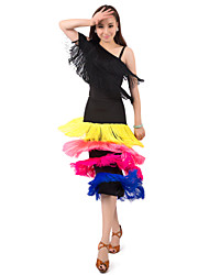 Dancewear Polyester With Tassels Latin Dance Skirt for Ladies