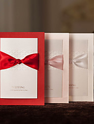 Personalized Wedding Invitation With Ribbon Sash -Set Of 50/20(More Colors)