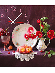 "12""-24"" Country Style Fruitful Wall Clock In Canvas"