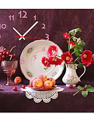 """12 """"-24"""" в стиле кантри плодотворным настенные часы в холсте"""