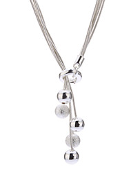 Z&X®  925 Sterling Silver Plated Multi-Rope Affinity Pendant Necklace