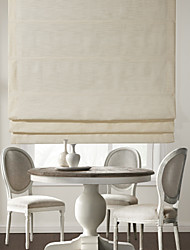 TWOPAGES® Modern Beige Solid Roman Shade