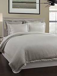 3-teiliges Modern Style Weiß Neuheit Jacquard Bettbezug Set
