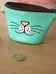 Zakka Cat Face Coin Purse