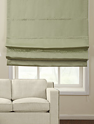 TWOPAGES® Natural Light Green Blackout Roman Shade