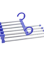5 In 1 Stainless Steel Tube  Magic Pants Rack (Random Colors)