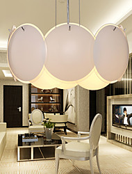 Max 40W Modern/Contemporary / Drum Mini Style Electroplated Pendant Lights Living Room / Bedroom / Dining Room