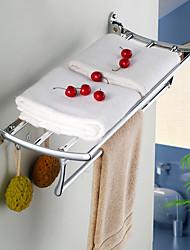 Sharks d chromé Porte-serviettes salle de bains matériel accessoires étagère de poisson en acier inoxydable plié salle de bain en verre