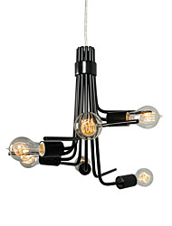 Caractéristique 6 Light Pendant Modern American-Style du Nord In Black