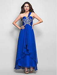 A-line One Shoulder Asymmetrical Chiffon Refined Evening/Prom Dress