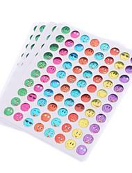 10pcs autocollant coloré de style d'expression