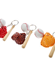 Baseball Set Stil Schlüsselbund (zufällige Farbe)