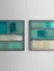Peint à la main Peinture à l'huile abstraite avec cadre étiré Lot de 2 1308-AB0734