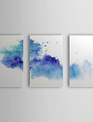 Hand Painted Oil Painting Abstract with Stretched Frame Set of 3 1308-AB0756