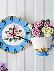 Modern Style Rose Plate Wall Clock