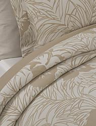 2 Pack Modern Style Khaki Jacquard Leaf Sham
