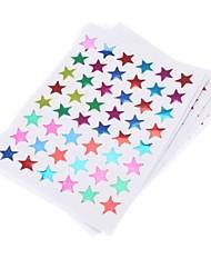10pcs Colorful Stars autocollant en forme