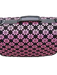 Patrón de flor rosa bolsa de transporte con correas para mascotas perros (varios colores, tamaños)