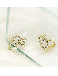 MaDou Princess Cute Rabbit Diamond Cut Out Stud Earring