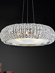 Max 40W Modern/Contemporary / Drum Crystal / Bulb Included Electroplated Pendant Lights Living Room / Bedroom / Dining Room