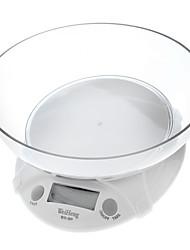 "1.8"" LCD Digital Kitchen Scale - White (7kg/1g)"