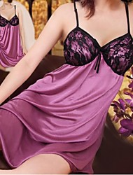 Black Lace Purple Dress Sexy Nightwear
