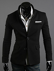 Men's Long Sleeve Jacket , Cotton Blend Casual