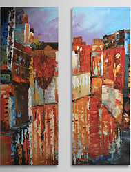 Hand Painted Oil Painting Abstract with Stretched Frame Set of 2 1309C-AB0845