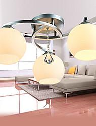 Criação artística 3 luzes de montagem embutida com globo Sombra