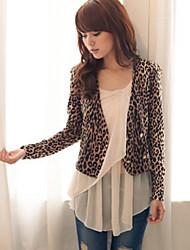 Leopard Duplo Blazer da mama de mulheres
