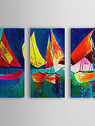 Hand Painted Oil Painting Landscape with Stretched Frame Set of 3 1308-LS0754