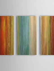 Peint à la main Peinture à l'huile abstraite avec cadre étiré Ensemble de 3 1308-AB0706