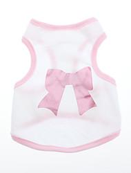 Dog Shirt / T-Shirt Pink Dog Clothes Summer / Spring/Fall Bowknot