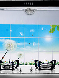 75x45cm Dandelion Pattern Oil-Proof Water-Proof Kitchen Wall Sticker