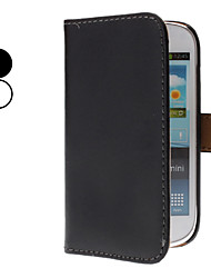 PU Leather Full Body Case with Stand and Card Slot for Samsung Galaxy S3 Mini I8190