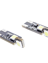T10 1W 56lm 4-SMD 6000-6500K White Light-LED für Auto (DC 12V, 2-Pack)
