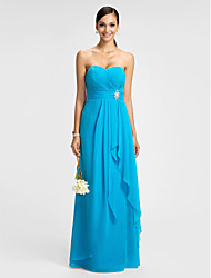 Lanting Dress - Pool Plus Sizes / Petite Sheath/Column Sweetheart Floor-length Chiffon