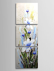 Hand Painted Oil Painting Floral Blooming Flowers with Stretched Frame Set of 3 1308-FL0750