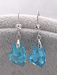 madou Prinzessin Herz Kristall ocean blue Ohrring