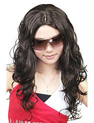 Capless High Quality Synthetic Long Curly Black Fashion Hair Wigs