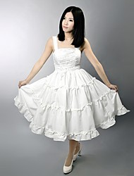One-Piece/Dress Classic/Traditional Lolita Lolita Cosplay Lolita Dress Solid Sleeveless Long Length Dress For Satin