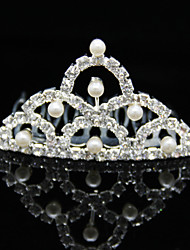 Nuptiale alliage Tiara avec strass Occasion / mariage Coiffes spéciales