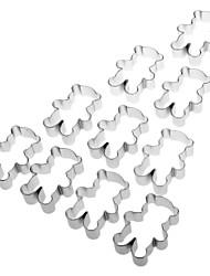 Ours mignon en aluminium en forme Cookie Cutter Biscuit (10pcs)