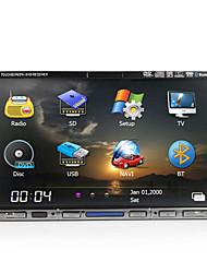 7 pulgadas 2din coche reproductor de DVD soporte GPS, TV, Bluetooth, IPOD