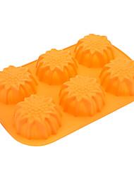 подсолнечника в форме торта силикона печенья формы (случайный цвет)
