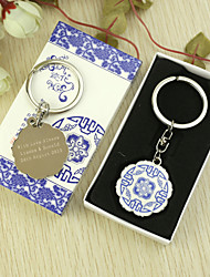 Personalized Classic Keyring Favor in Gift Box (Set of 6)