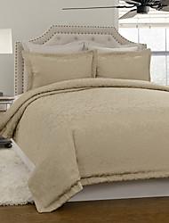 3-teiliges Modern Style Dunkelgelb Jacquard Bettbezug Set