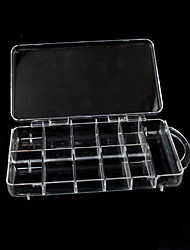Portable Clear Plastic Nail Art Tip Storage Box Case Tool