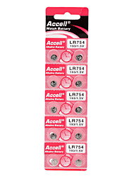 LR754 193/1.5V Alkaline Watch Battery (10pcs)