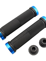 Bicicleta MTB Ultraleve Rubber Lock-on Grips (Black & Blue)